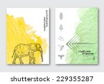 vector nature poster templates. ... | Shutterstock .eps vector #229355287