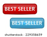 bestseller label. red and blue... | Shutterstock .eps vector #229358659