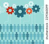 vector crowdsourcing concept in ... | Shutterstock .eps vector #229360099