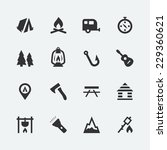camping related vector icons set   Shutterstock .eps vector #229360621