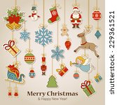merry christmas and happy new... | Shutterstock .eps vector #229361521
