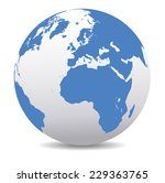 europe and africa global world | Shutterstock .eps vector #229363765
