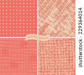 set of doodle pattern on retro... | Shutterstock .eps vector #229364014