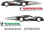 black and white illustration of ... | Shutterstock .eps vector #229364164