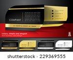 black business card design | Shutterstock .eps vector #229369555