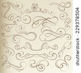calligraphical vintage... | Shutterstock .eps vector #229378504