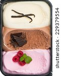 Top View Of Triple Ice Cream ...
