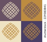 round vector ornament mandala.... | Shutterstock .eps vector #229383841