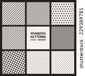 vector set of eight seamless... | Shutterstock .eps vector #229389781