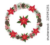 merry christmas and happy new... | Shutterstock .eps vector #229391251