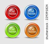 eid discount colorful vector...   Shutterstock .eps vector #229391824