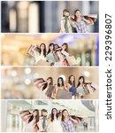 asian woman shopping ... | Shutterstock . vector #229396807