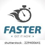 faster logo | Shutterstock .eps vector #229400641