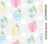 abstract apple seamless pattern.... | Shutterstock .eps vector #229408969