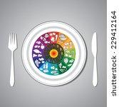vector illustration of vitamin... | Shutterstock .eps vector #229412164