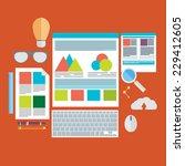flat design vector illustration ... | Shutterstock .eps vector #229412605