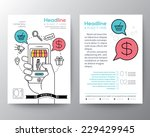 brochure flyer design layout... | Shutterstock .eps vector #229429945