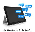share and tablet 3d  social... | Shutterstock . vector #229434601