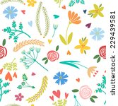 vector seamless pattern  floral ... | Shutterstock .eps vector #229439581