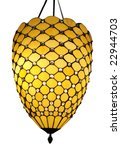 Hanging Art Deco Lamp Isolated...