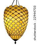 hanging art deco lamp isolated...   Shutterstock . vector #22944703