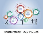 concept of teamwork building... | Shutterstock .eps vector #229447225