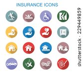 insurance long shadow icons ... | Shutterstock .eps vector #229449859