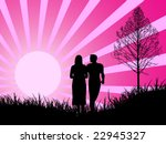 lovers   vector illustration | Shutterstock .eps vector #22945327