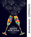 happy new year 2015 greeting... | Shutterstock .eps vector #229456141