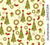 christmas seamless pattern | Shutterstock .eps vector #229457299