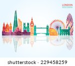 london skyline abstract. vector ... | Shutterstock .eps vector #229458259