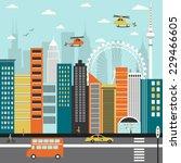 modern city street. vector | Shutterstock .eps vector #229466605