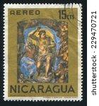 nicaragua   circa 1968  stamp... | Shutterstock . vector #229470721