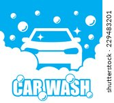 car wash vector | Shutterstock .eps vector #229483201