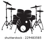 drum setting. vector picture | Shutterstock .eps vector #229483585