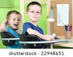 two boys doing their homework   ... | Shutterstock . vector #22948651