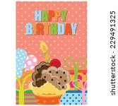 birthday invitation. vector | Shutterstock .eps vector #229491325