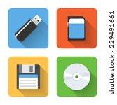 flat storage device icons....