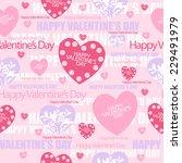 valentines seamless pattern.... | Shutterstock .eps vector #229491979
