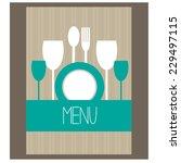 restaurant menu design. vector | Shutterstock .eps vector #229497115