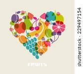 vector color fruits icon. food... | Shutterstock .eps vector #229497154