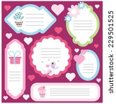 cute scrapbook element set.... | Shutterstock .eps vector #229501525