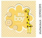its a boy. vector | Shutterstock .eps vector #229502395