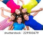 Happy Kid Friend Girls Group - Fine Art prints