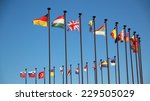 international flags in the wind | Shutterstock . vector #229505029