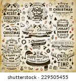 christmas decoration collection ... | Shutterstock .eps vector #229505455