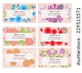 set of floral business cards... | Shutterstock .eps vector #229515571