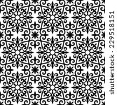 seamless  pattern a white... | Shutterstock .eps vector #229518151
