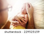 Cute Newborn Baby Girl Lying O...