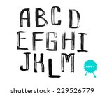 grunge uneven handwritten paint ...   Shutterstock .eps vector #229526779